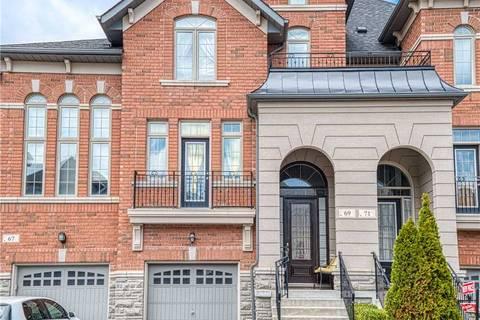 Townhouse for sale at 69 Hansard Dr Vaughan Ontario - MLS: N4414319
