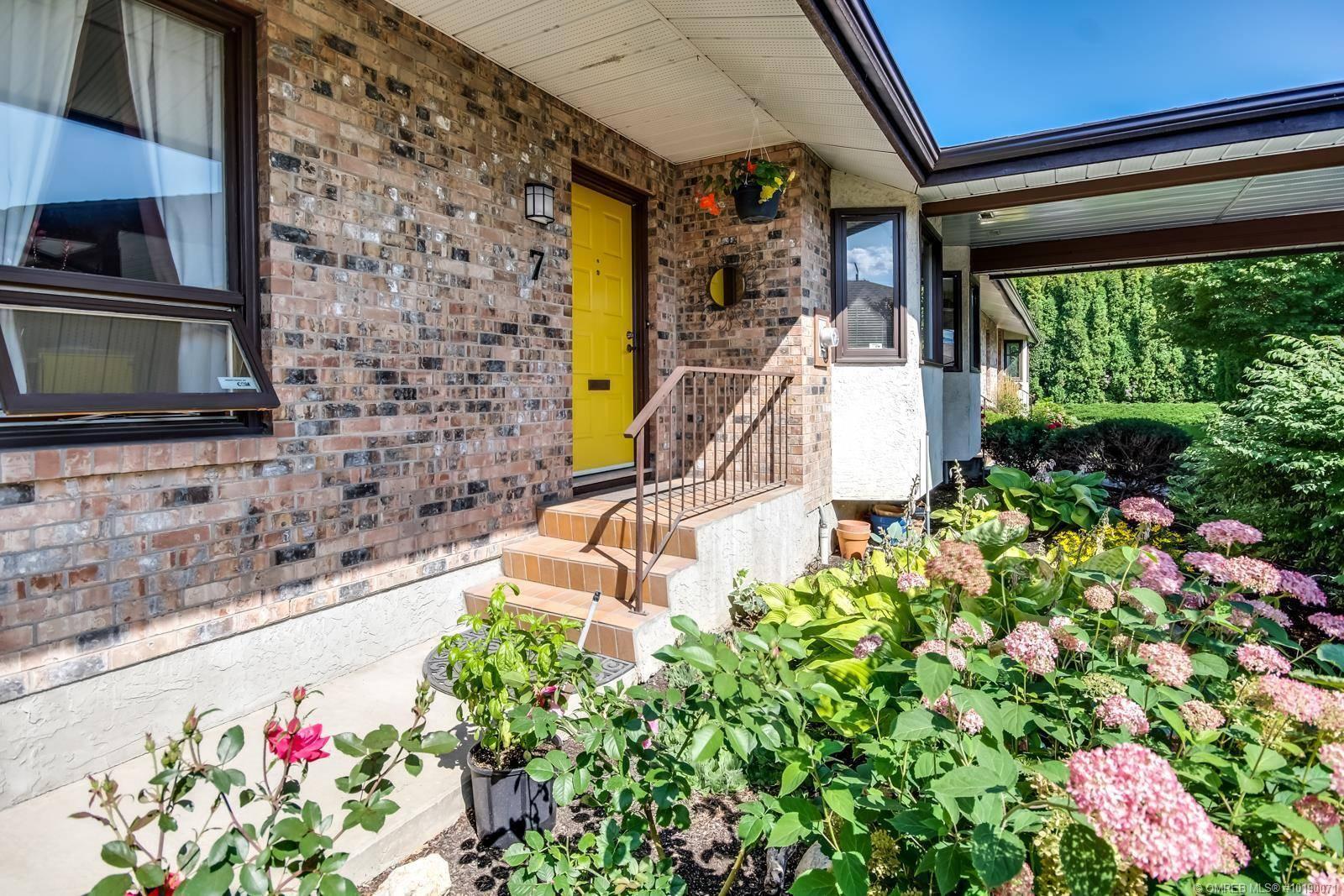 Townhouse for sale at 970 Springfield Rd Unit 7 Kelowna British Columbia - MLS: 10190071