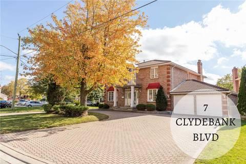 House for sale at 7 Clydebank Blvd Toronto Ontario - MLS: E4619355