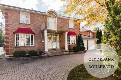 House for sale at 7 Clydebank Blvd Toronto Ontario - MLS: E4677435