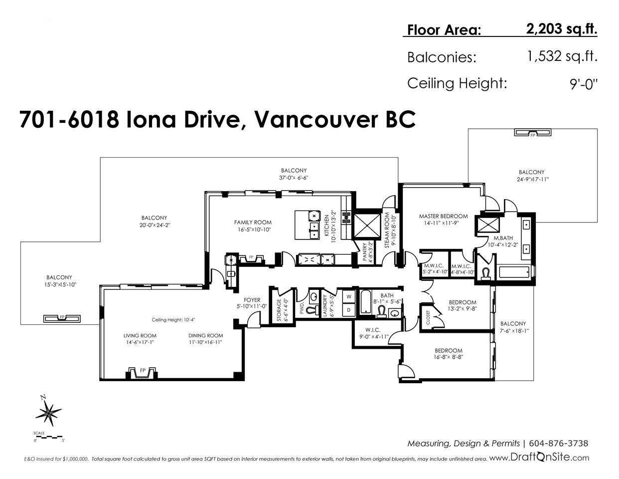 For Sale: 701 - 6018 Iona Drive, Vancouver, BC | 3 Bed, 3 Bath Condo for $4,380,000. See 9 photos!