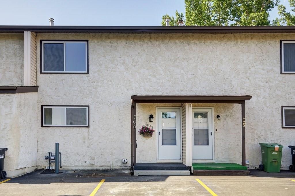 For Sale: 706 - 9930 Bonaventure Drive Southeast, Calgary, AB | 3 Bed, 1 Bath Townhouse for $248,000. See 24 photos!
