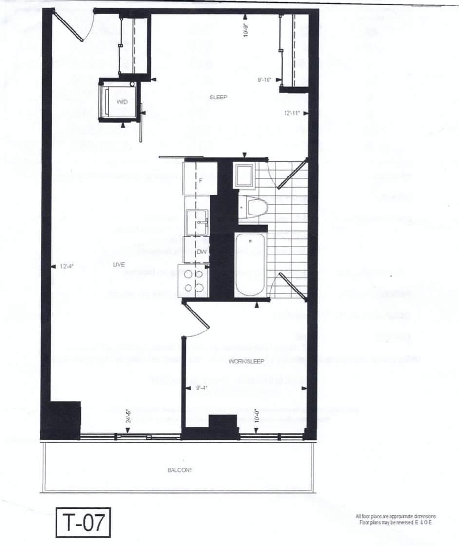 Apartment for rent at 20 Joe Shuster Wy Unit 709 Toronto Ontario - MLS: C4649311