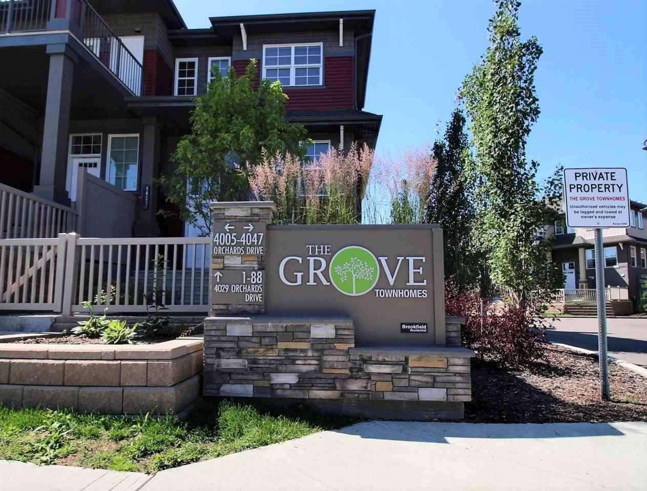 Townhouse for sale at 4029 Orchards Dr Sw Unit 71 Edmonton Alberta - MLS: E4167392