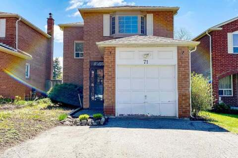 House for sale at 71 Miley Dr Markham Ontario - MLS: N4778466