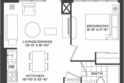 Apartment for rent at 28 Avondale Ave Unit 710 Toronto Ontario - MLS: C4574434