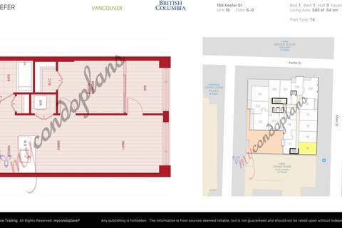 Condo for sale at 188 Keefer St Unit 716 Vancouver British Columbia - MLS: R2438516