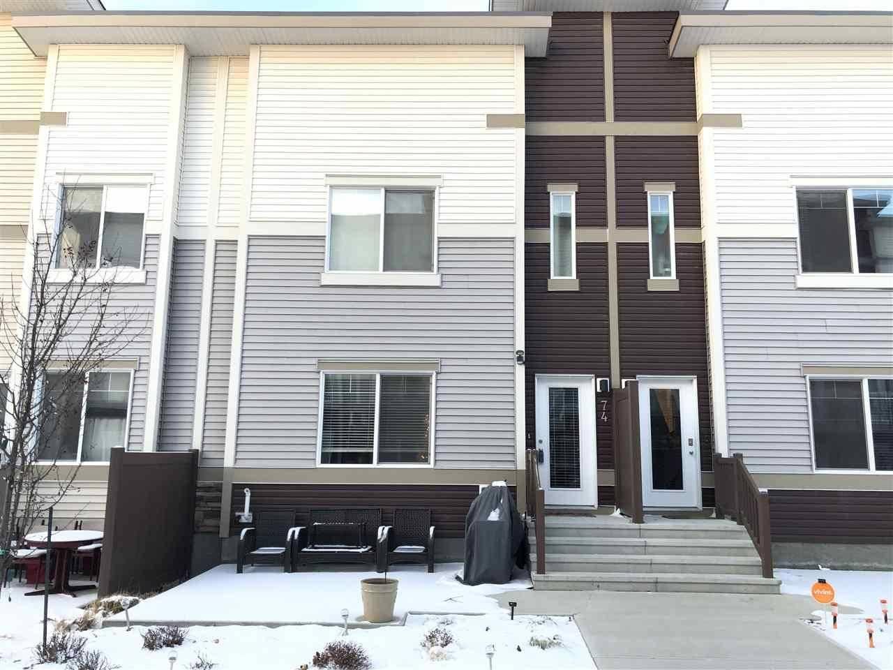 Townhouse for sale at 804 Welsh Dr Sw Unit 74 Edmonton Alberta - MLS: E4171463