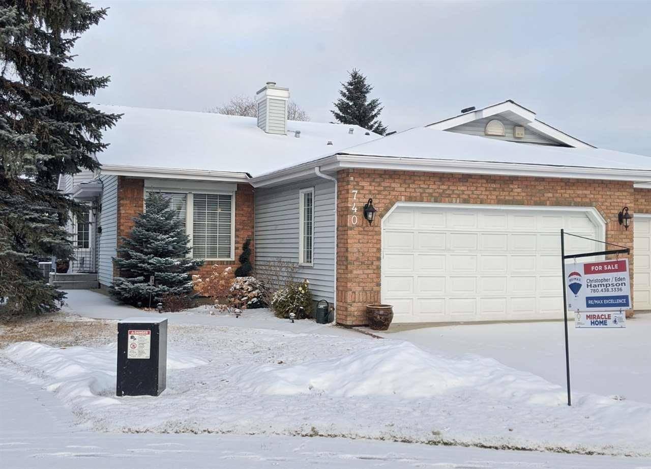 Townhouse for sale at 740 Wilkin Cs Nw Edmonton Alberta - MLS: E4165419