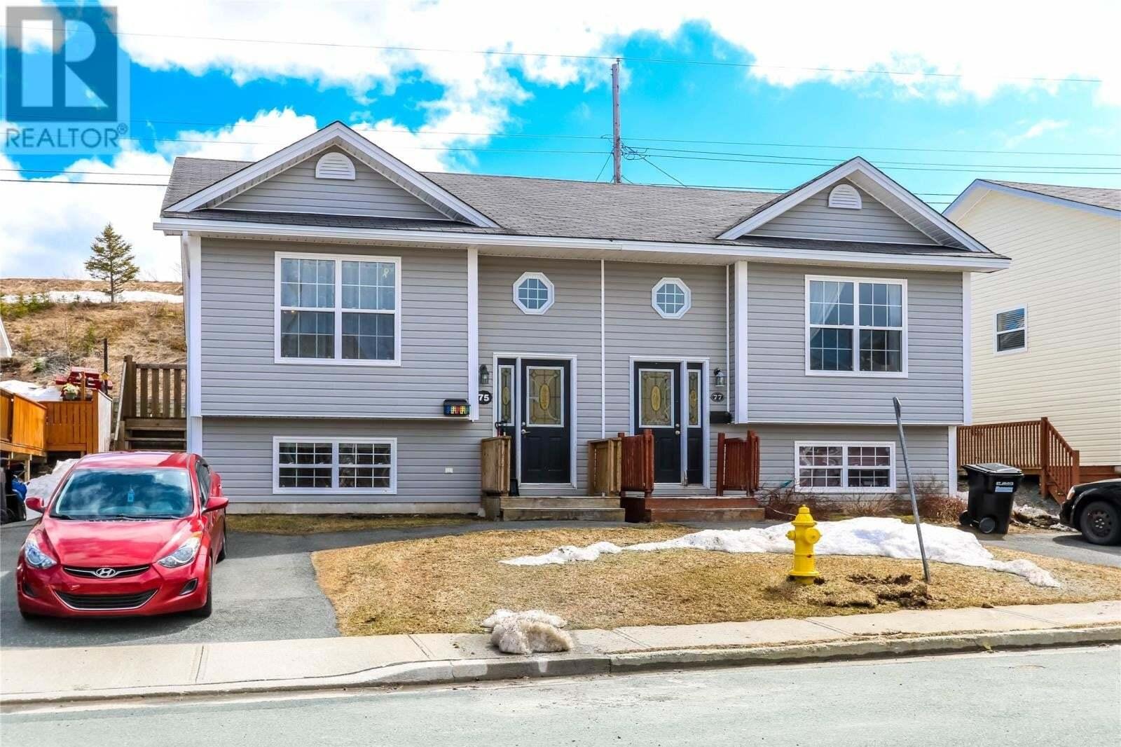 House for sale at 75 Edison Pl St. John's Newfoundland - MLS: 1217369