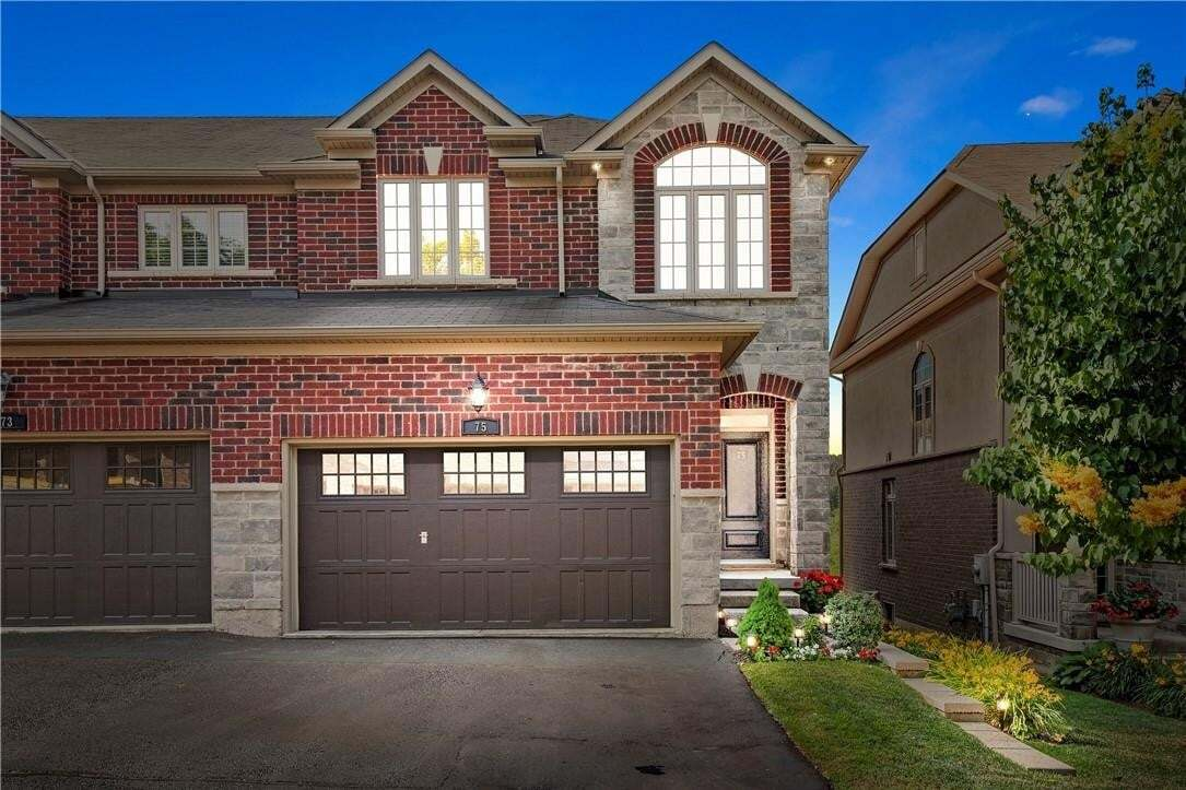 Townhouse for sale at 75 Oakhaven Pl Ancaster Ontario - MLS: H4082354