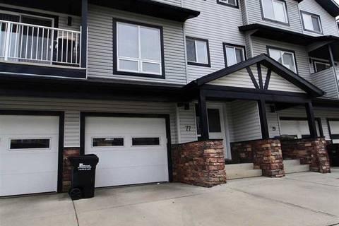 Townhouse for sale at 11 Clover Bar Ln Unit 77 Sherwood Park Alberta - MLS: E4163139