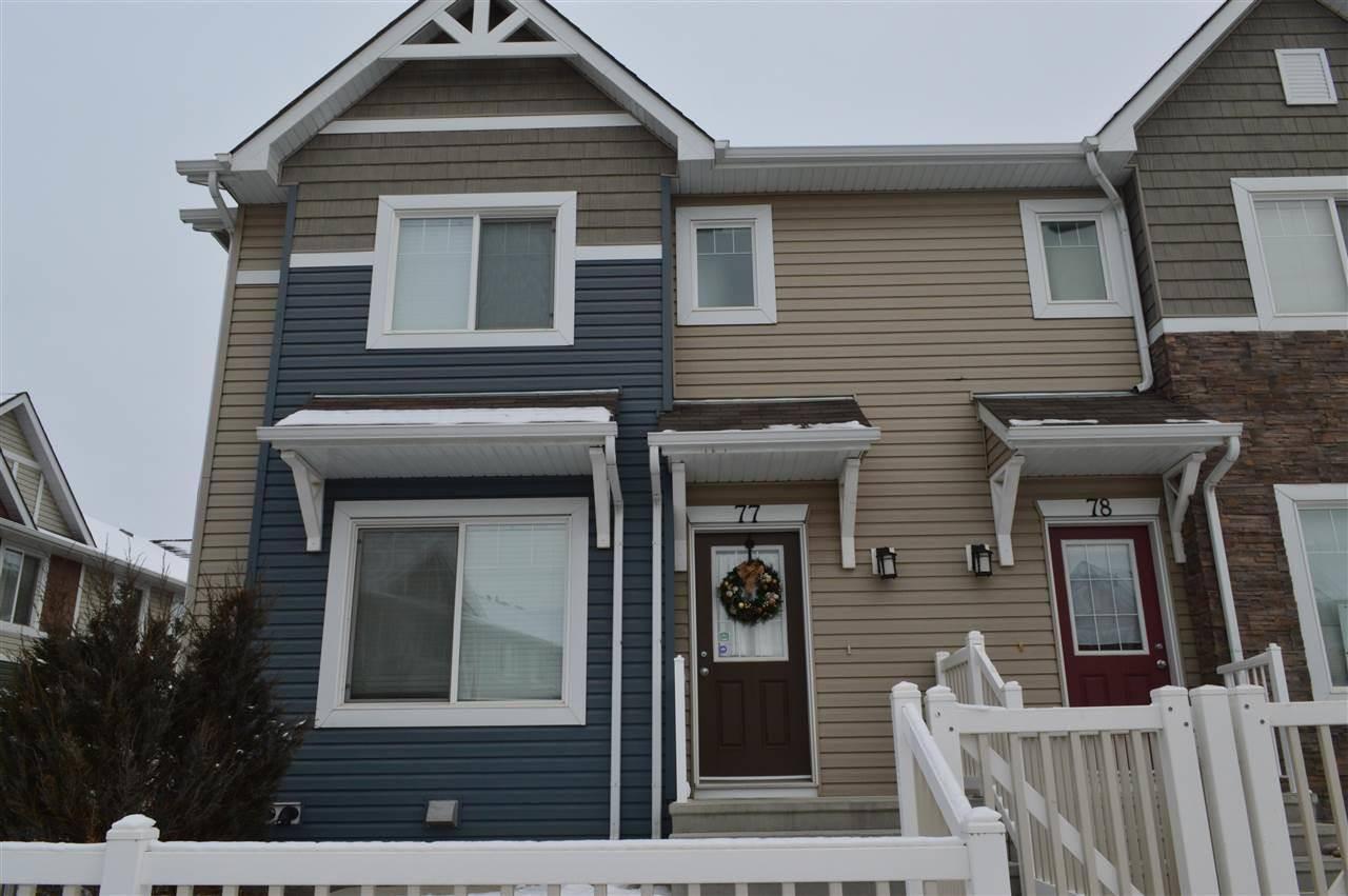 Townhouse for sale at 655 Tamarack Rd Nw Unit 77 Edmonton Alberta - MLS: E4182012