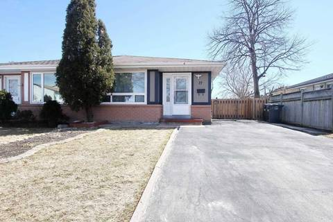 Townhouse for sale at 77 Jefferson Rd Brampton Ontario - MLS: W4729148