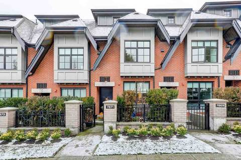 Townhouse for sale at 7871 Oak St Vancouver British Columbia - MLS: R2454897