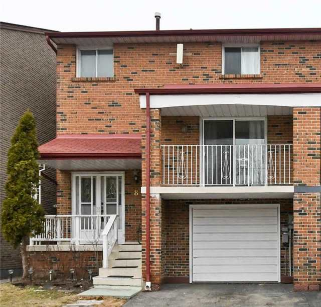 For Sale: 8 Brownridge Crescent, Toronto, ON   3 Bed, 2 Bath Townhouse for $639,000. See 20 photos!