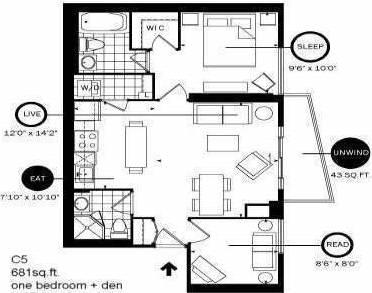 Apartment for rent at 21 Carlton St Unit 801 Toronto Ontario - MLS: C4491149