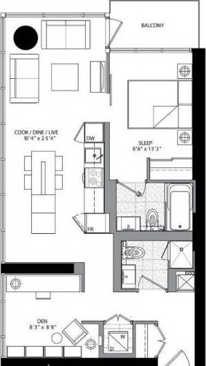 Apartment for rent at 5 St Joseph St Unit 802 Toronto Ontario - MLS: C4486728