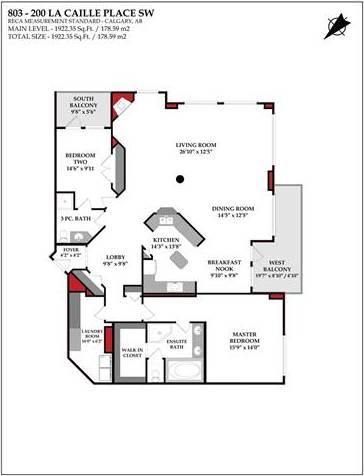 Condo for sale at 200 La Caille Pl Southwest Unit 803 Calgary Alberta - MLS: C4291900
