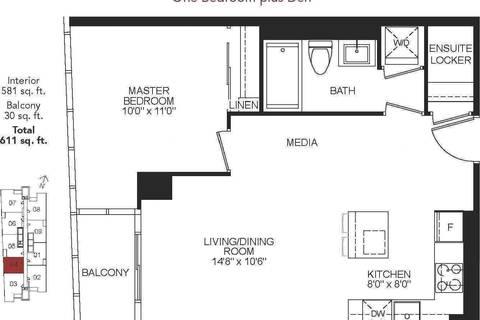 Apartment for rent at 11 Bogert Ave Unit 804 Toronto Ontario - MLS: C4693294