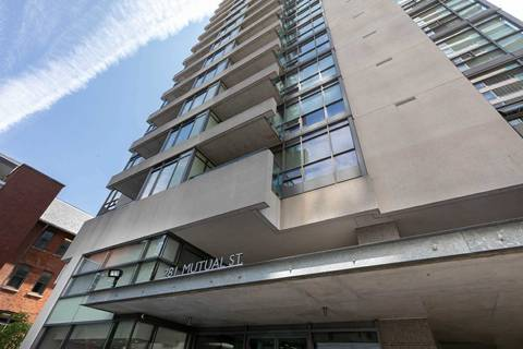 Apartment for rent at 281 Mutual St Unit 805 Toronto Ontario - MLS: C4551800