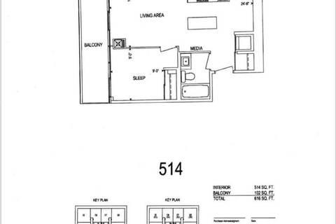 Apartment for rent at 8 Eglinton Ave Unit 807 Toronto Ontario - MLS: C4732764