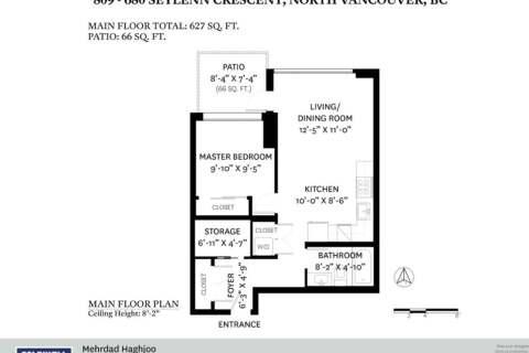 Condo for sale at 680 Seylynn Cres Unit 809 North Vancouver British Columbia - MLS: R2478557
