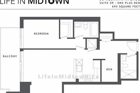 Apartment for rent at 83 Redpath Ave Unit 809 Toronto Ontario - MLS: C4733227
