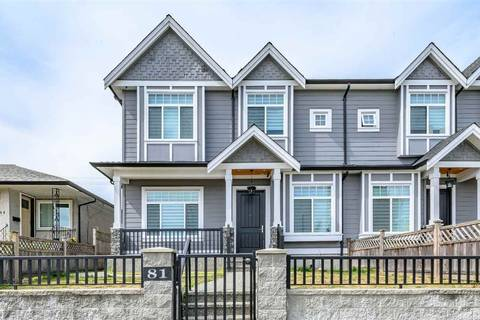 Townhouse for sale at 81 Glover Ave New Westminster British Columbia - MLS: R2397418