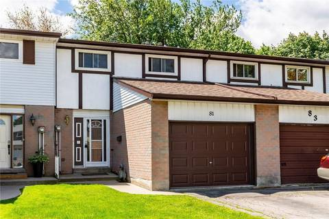 Townhouse for sale at 81 Golden Orchard Dr Hamilton Ontario - MLS: H4056214
