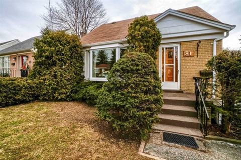 House for sale at 81 Miramar Cres Toronto Ontario - MLS: E4730337