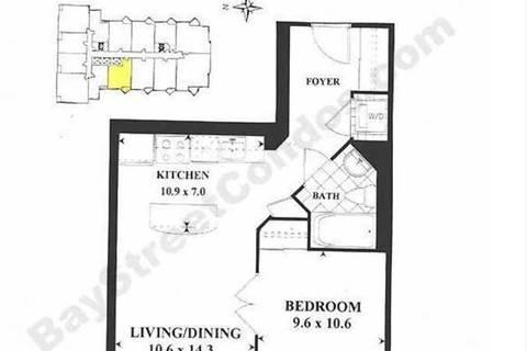 Apartment for rent at 85 Bloor St Unit 814 Toronto Ontario - MLS: C4673507
