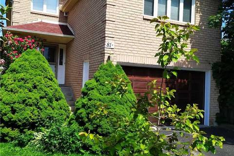 House for sale at 81 Vanbrugh Ave Toronto Ontario - MLS: E4445876