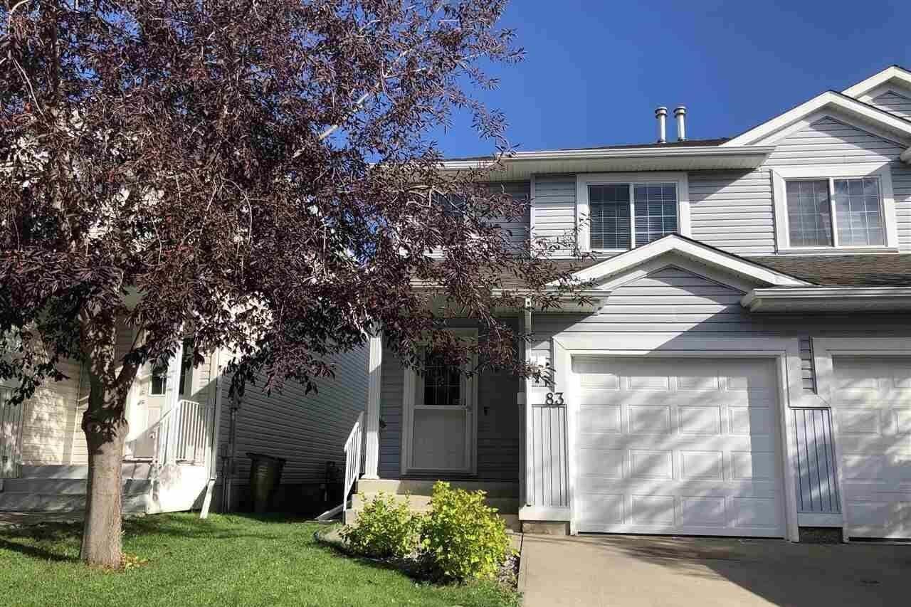 Townhouse for sale at 14603 Miller Bv NW Unit 83 Edmonton Alberta - MLS: E4213186