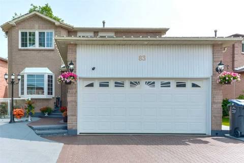 House for sale at 83 Atkins Circ Brampton Ontario - MLS: W4513147