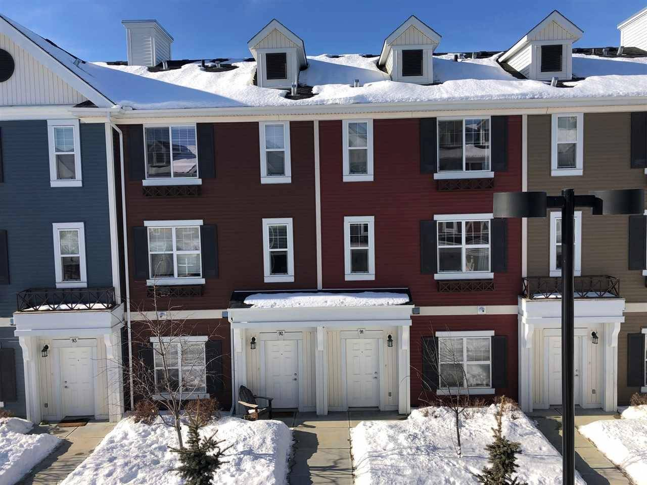 Townhouse for sale at 8315 180 Ave Nw Edmonton Alberta - MLS: E4187423