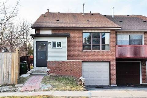 Townhouse for rent at 85 Blue Eagle Tr Toronto Ontario - MLS: E4636078