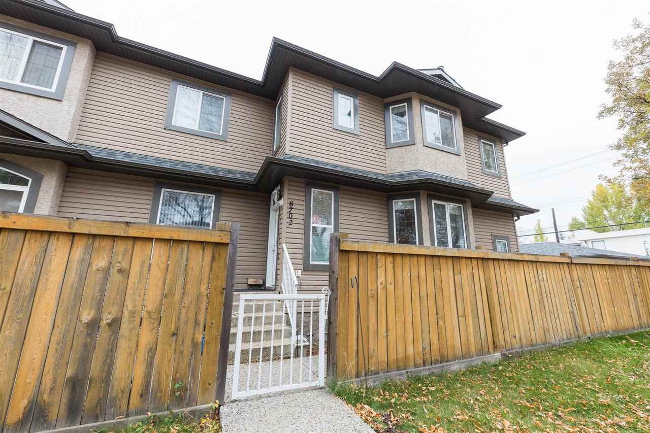 For Sale: 8702 81 Avenue, Edmonton, AB | 4 Bed, 4 Bath Townhouse for $459,000. See 25 photos!