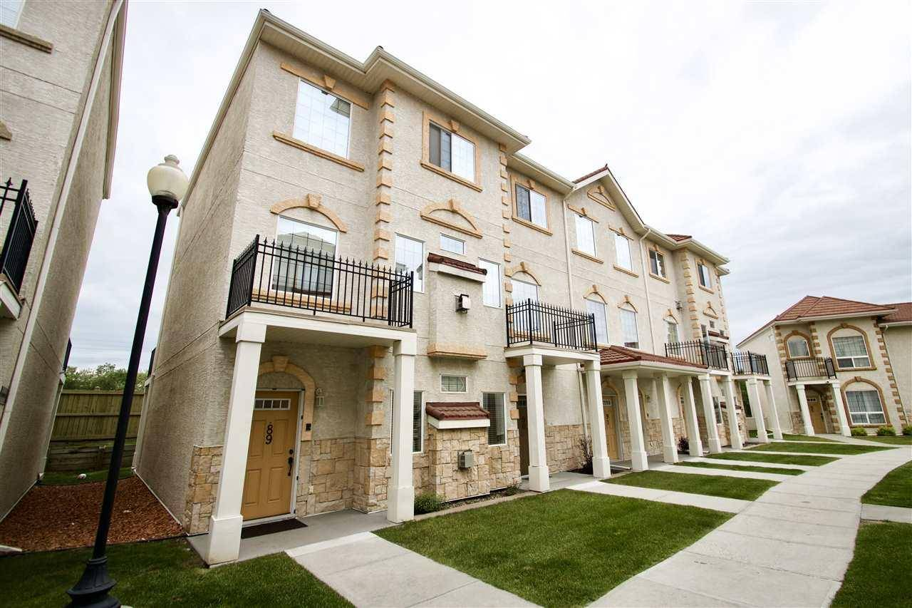 Townhouse for sale at 13825 155 Ave Nw Unit 89 Edmonton Alberta - MLS: E4163904