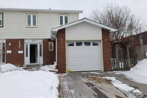 Townhouse for sale at 89 Skegby Rd Brampton Ontario - MLS: W4677405