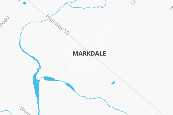 Map Of 9 Argyle Street Markdale