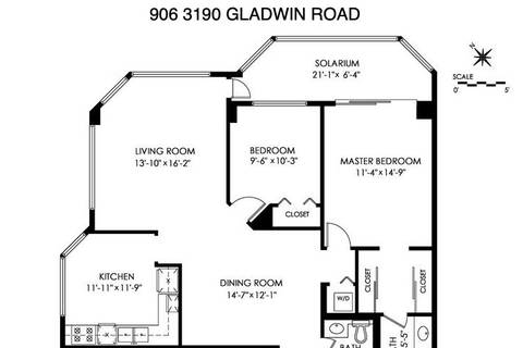 Condo for sale at 3190 Gladwin Rd Unit 906 Abbotsford British Columbia - MLS: R2404197