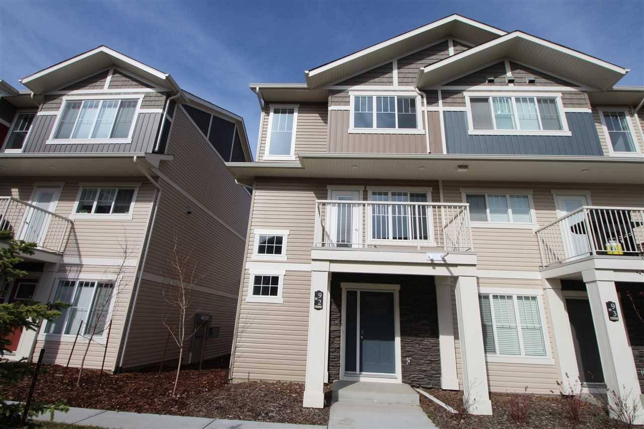 Townhouse for sale at 17832 78 St Nw Unit 92 Edmonton Alberta - MLS: E4183033