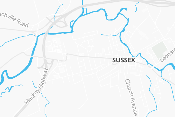 Map Of 92 Albert Street Sussex