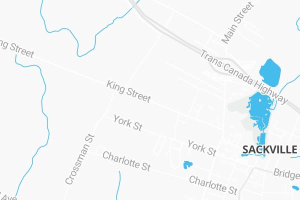 Map Of 99 King Street Sackville