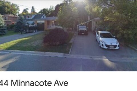 House for rent at 44 Minnacote Ave Unit Bsmnt Toronto Ontario - MLS: E5086750