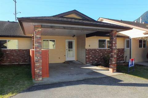 Townhouse for sale at 420 Rupert St Unit G Hope British Columbia - MLS: R2335957