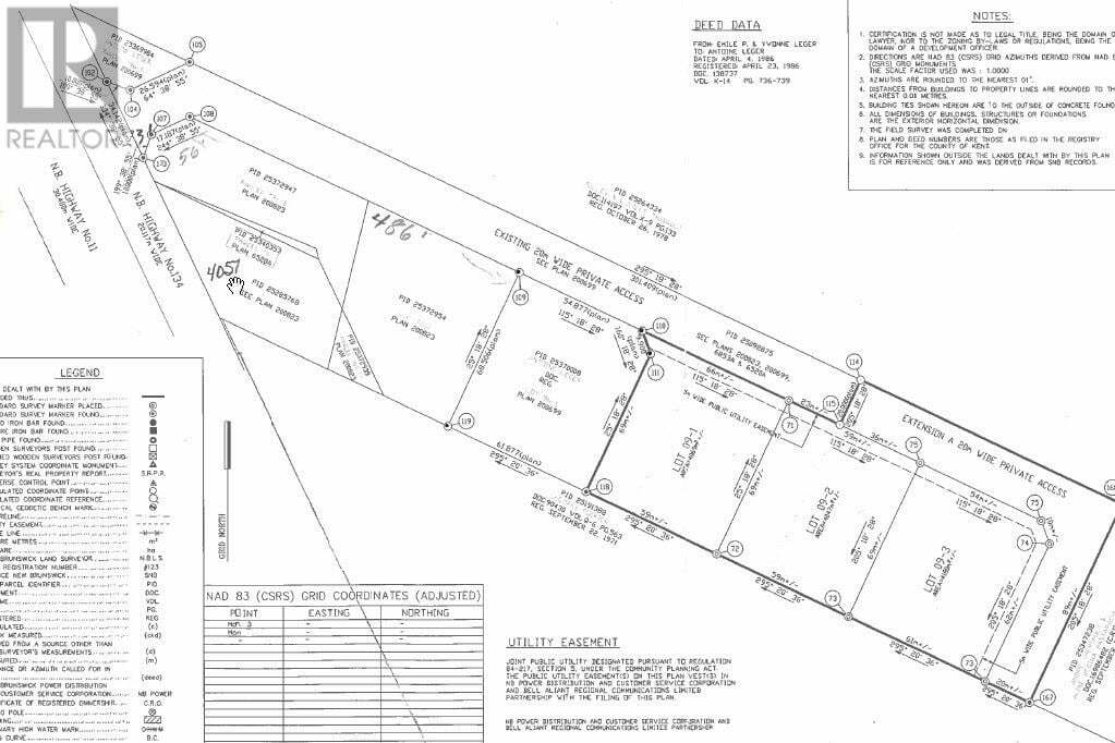 Home for sale at Lot 09-1 Dominique St Grande Digue New Brunswick - MLS: M130548