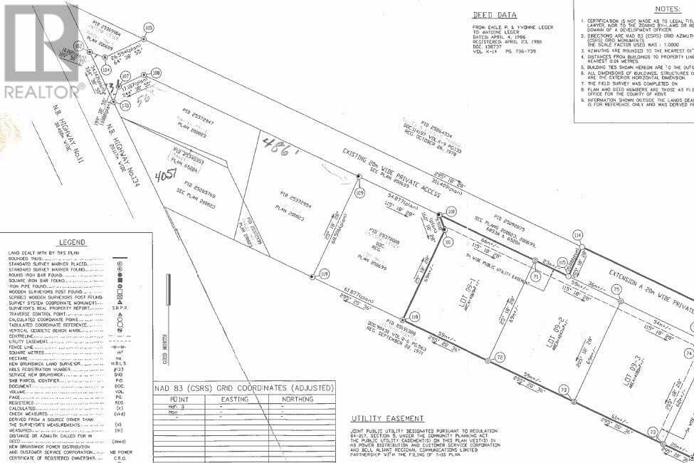 Residential property for sale at Lot 09-3 Dominique St Grande Digue New Brunswick - MLS: M130550