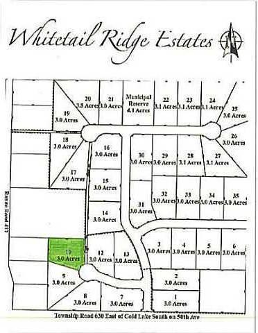 Home for sale at  Whitetail Ridge Estates Unit Lot 10 Rural Bonnyville M.d. Alberta - MLS: E3394446